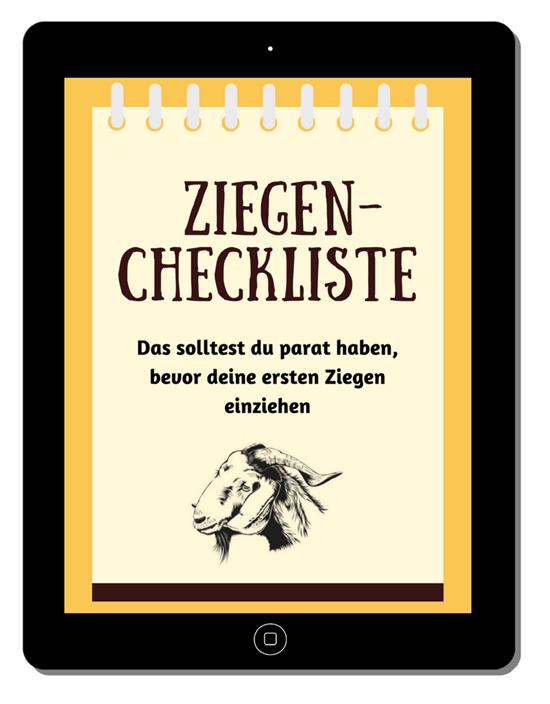 Checkliste für angehende Ziegenhalter