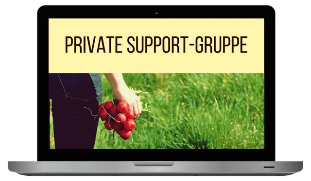 Haltbarmachen-Support-Gruppe