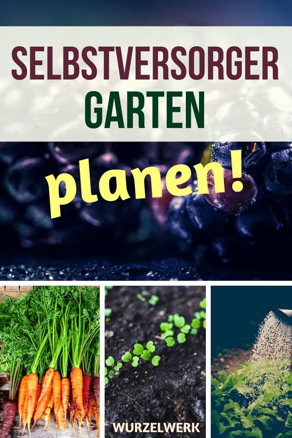 Selbstversorger-Garten planen: Selbstversorgung aus dem Garten - geht das überhaupt? Und wie! In diesem Artikel zeige ich dir, wie du in vier Jahren nur noch selbst angebautes Obst und Gemüse isst. Wir planen deinen Gemüsegarten! #Gemüsegarten #Selbstversorgung #Wurzelwerk