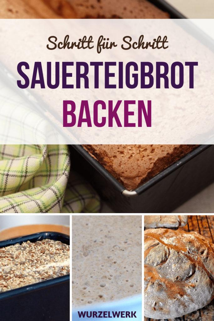 Sauerteigbrot backen ohne Hefe: Hier ist ein einfaches Rezept für ein leckeres Roggenmischbrot, das du ganz einfach selbst backen kannst! #Wurzelwerk #Sauerteig #Backen #BrotBacken
