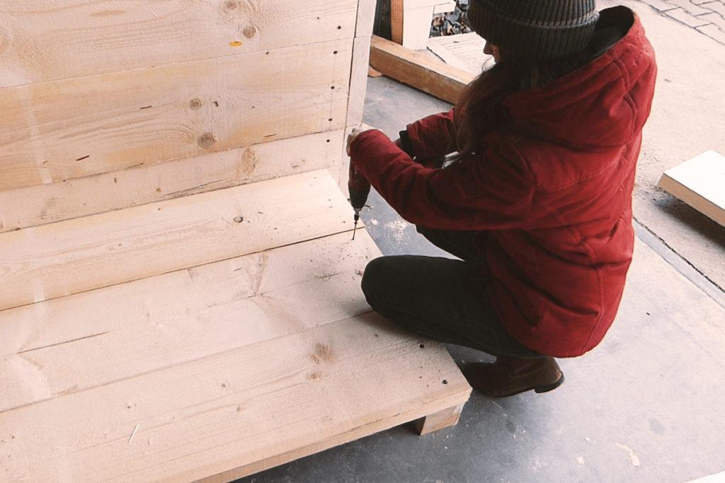 Hochbeet aus Holz bauen Bauanleitung