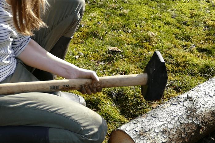 Beeteinfassung aus Holz selber bauen