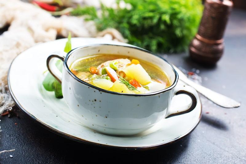 Eingekochte Suppe